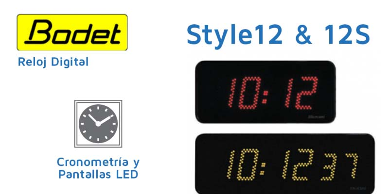 Style 12 & Style 12 S - Reloj Digital LED
